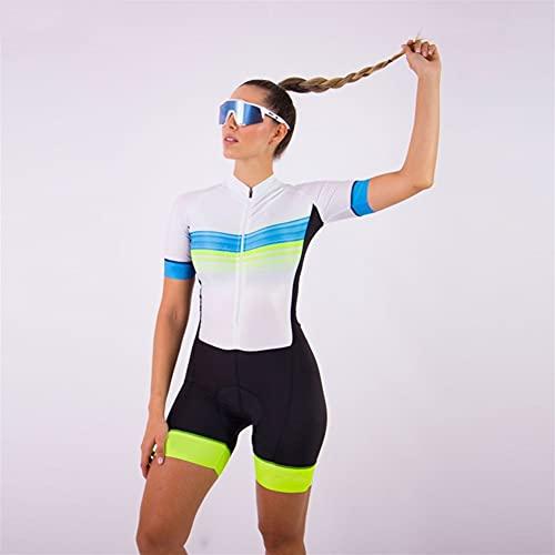 Jersey à vélo de cyclisme pour femmes triathlon, maillot de cyclisme à manches courtes costume Jersey à vélo à sec rapide (Color : Red, Size : XXX-Large)