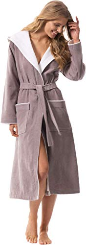 Morgenstern Peignoir de Bain pour femme avec capuche Taille 38/40 ( Petit / S / Small ) 100%...