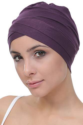 Deresina Headwear W Bonnet en Coton pour Chimio,Violet,Taille unique