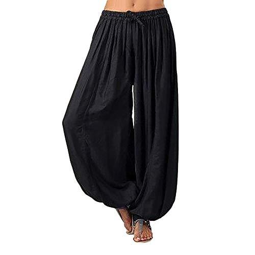 MORCHAN ❤ Femmes Plus Size Solide Couleur Casual Pantalon décontracté Sarouel Pantalon de...