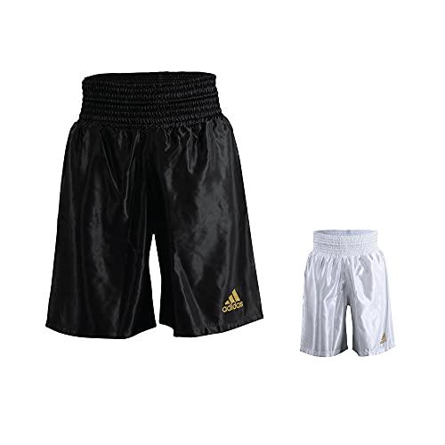 adidas Short de Combat Unisexe en Satin pour entraînement de Boxe, Mixte, Short de Boxe en Satin pour entraînement, Noir, XL