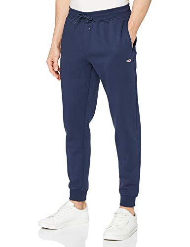 Tommy Jeans TJM Slim Fleece Sweatpant Pantalon de survêtement, Bleu Marine, L (Longueur S)...