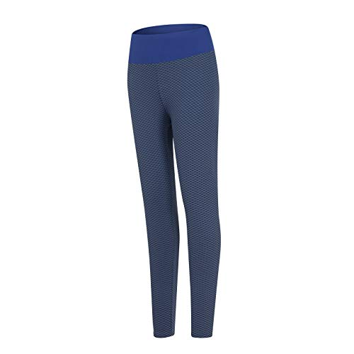 GYJJ Pantalon Compression Femme Leggings de Yoga Extensibles pour Femmes Fitness Running Gym Sports Pantalons Actifs Pleine Longueur Marine S