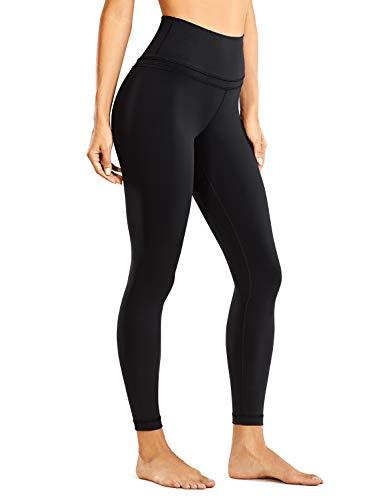 CRZ YOGA Femme Legging de Sport Pantalons Yoga Taille Haute en Tissu Léger avec Poche-63cm...