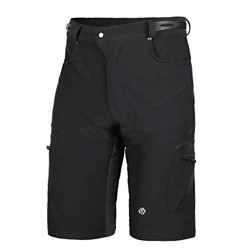 SKYSPER Shorts de Cyclisme Homme MTB Shorts Séchage Rapide Respirant Cuissard Vélo Homme Cycliste Shorts de Sports Loisirs Shorts pour Sports de Plein Air VTT MTB Running Taille M-3XL