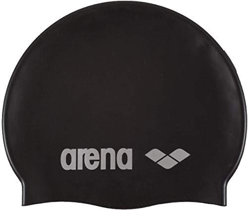 Arena Classic Silicone Bonnet de piscine Mixte Adulte, Noir/Gris, Taille Unique prix et achat