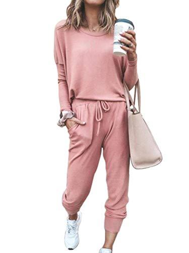 ORANDESIGNE Survêtement Femme Ensembles Sportswear Sweat Suit Pull avec Poches Casual Jogging...