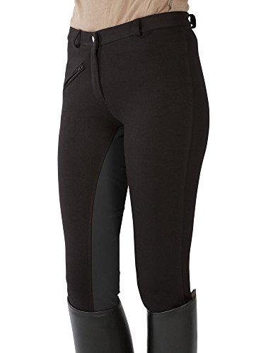 PFIFF 101197, Pantalon d'équitation Femme, Noir (Black/Gray), 36
