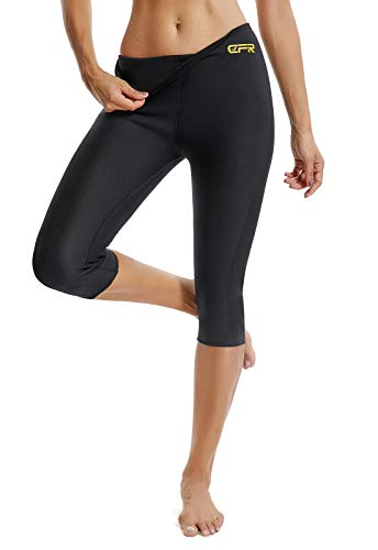 FITTOO Pantalon Sudation Femme Legging Minceur Néoprène Transpiration Sauna Amincissant Sport...