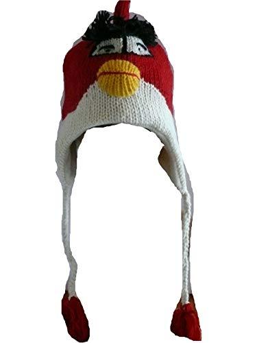 Bonnet en Laine Doublure Polaire Fait A LA Main Crochet Nepal PERUVIEN Rigolo Animal Hiver...