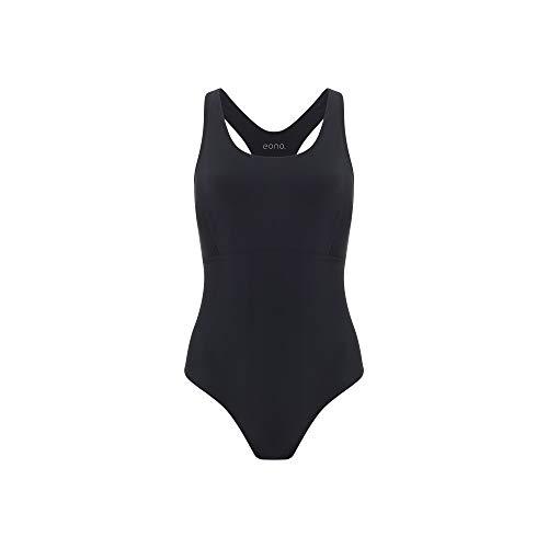Eono Essentials Maillot de bain une pièce pour femme en nylon et élasthanne, avec bretelles à dos nageur, TailleS