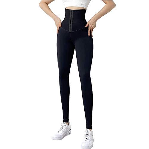 UFLF Pantalon de Yoga Femme (Noir, XL)