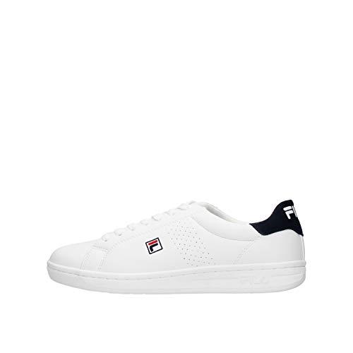 FILA Crosscourt 2 F men Sneaker Homme, blanc (White/Dress Blue), 43 EU