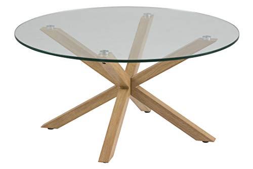 Marque Amazon - Movian Zala - Table basse, 82x82x40cm (longueurxlargeurxhauteur), Marron