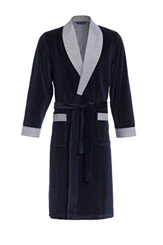 Robe de Chambre pour Hommes RE-103 Velours - Bleu foncé - XXL