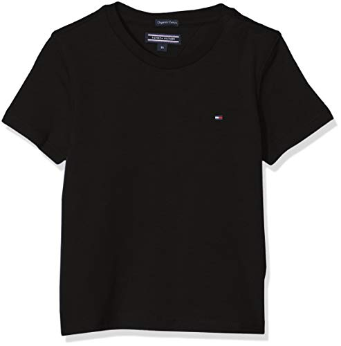 Tommy Hilfiger Basic CN Knit S/s T-Shirt, Noir (Meteorite 055), 128 (Taille Fabricant: 8)...
