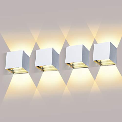 4 Pièces Applique Murale LED Exterieur 12W Appliques Murales...