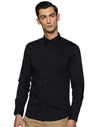 Celio MASANTAL1, Chemise Slim coton stretch, Homme, Noir (Noir), Medium