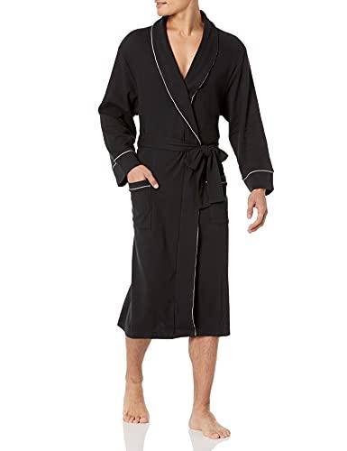 Amazon Essentials Peignoir gaufré pour hommes, noir, US XL-XXL (EU XXL-3XL)