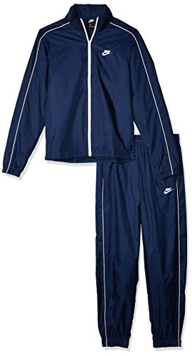 Nike M NSW CE TRK Suit WVN Basic Survêtement Homme, Bleu (Midnight Navy/White), M