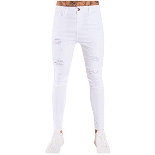 Hommes Pantalon en Jean Fashion Jeans Pantalons Longs Pantalon Crayon Denim Streetwear Trouser Grande Taille Jeans Bluestercool prix et achat