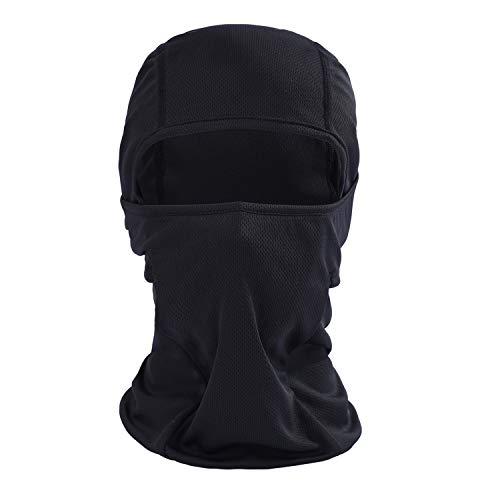 AYPOW Masque facial Balaclava, polyvalent respirant doux coupe-vent moto vélo balaclava cagoule tactique capuchon masque de ski élastique chapeau de cagoule coiffe casque doublure - taille universelle