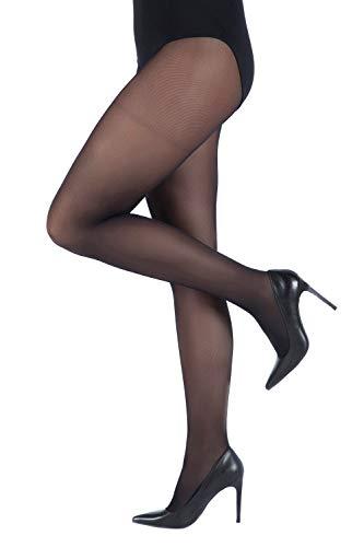 Ulla Popken Femme Grandes tailles Collants semi-opaques, 40 deniers noir 54/56 641315 10-52+