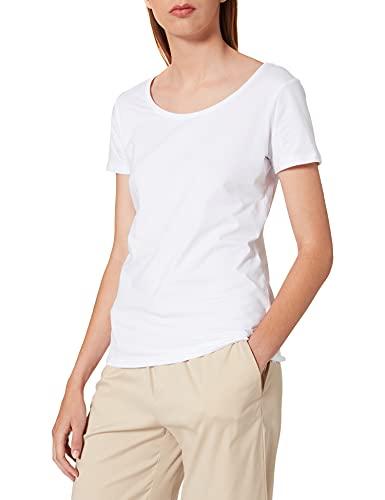 Esprit 999ee1k815 T-Shirt, Blanc (White 100), Large Femme