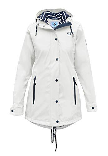 MADSea Manteau de Pluie Femme en Blanc, Couleur:Blanc, Taille:50