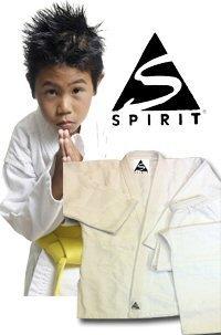 Spirit Sports Tenue de karaté 100% coton Blanc (0/130cm)