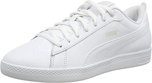PUMA Smash WNS V2 L, Baskets Femme, Blanc White White, 39 EU
