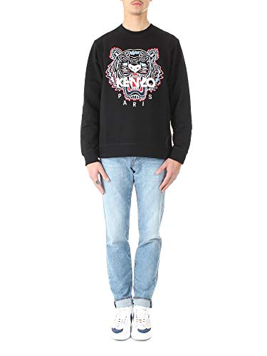 Kenzo Sweat Classic Tiger Pull Tigre Sweatshirt FA55SW0014XA Noir Homme