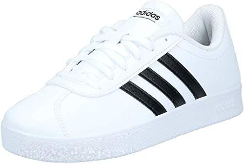 adidas VL Court 2.0 K, Chaussures de Fitness Mixte, Blanc (Ftwbla/Negbas 000), 38 EU