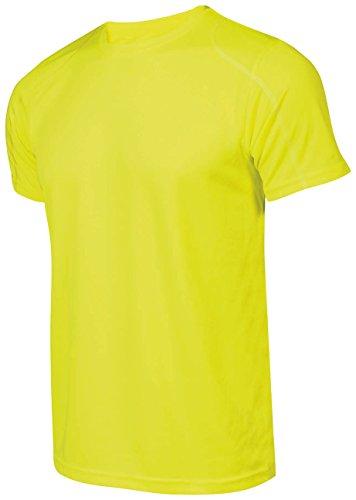 Asioka 375/16 T-Shirt de Running Unisexe Adulte S Jaune Fluo