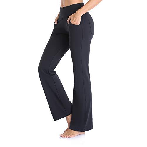 Vimbloom Pantalon Yoga Femmes Bootcut Long Casual Pantalon Bootleg de contrôle du Ventre avec...
