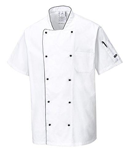 PORTWEST veste de cuisine manches courtes respirante COOLITE - - M - Blanc