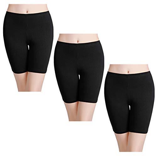 wirarpa Shorty Long Boxer Femme Jambes Longues Anti-Friction Cycliste Coton Lot de 3 Culotte...