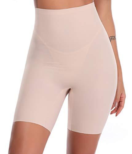 SLIMBELLE Shorty Gainant Culotte Sculptante Ventre Plat Panty Gaine Minceur Femme sans Couture Beige XL