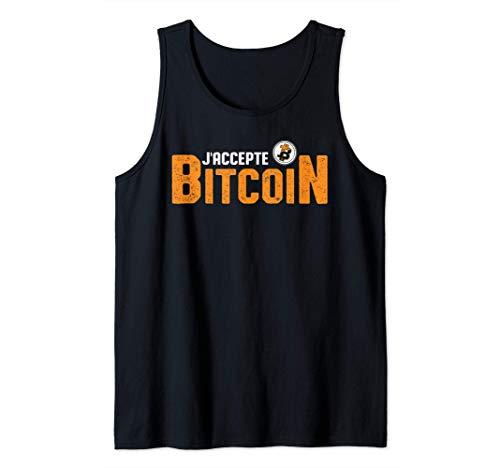 J'accepte Bitcoin Crypto Monnaie Money Trader Homme Cadeau Débardeur prix et achat