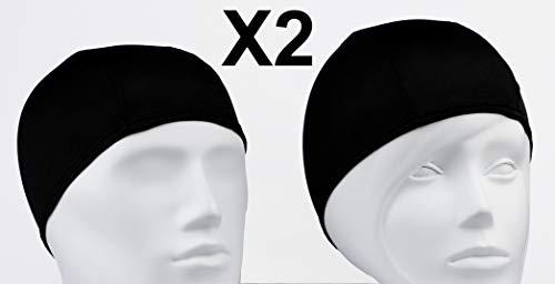Emerpack 2X Bonnets de Bain en Tissu pour Piscine ou Spa/Taille Unique Noir, pour Homme ou...