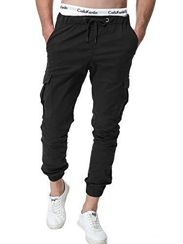 ZOEREA Homme Pantalon Cargo Sport Jogging Pantalons Multi Poches Ceinture Élastique Casual...