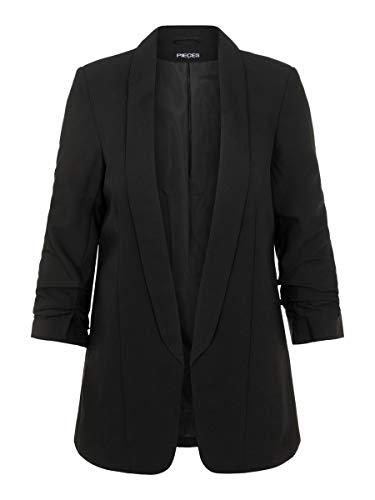 Pieces Pcboss 3/4 Blazer Noos Veste De Costume, Noir (Black Black), 42 (Taille Fabricant: X-Large) Femme