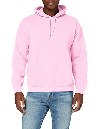 Gildan Heavyweight Hooded Sweatshirt Sweat àCapuche, Rose (Light Pink Light Pink), L Homme