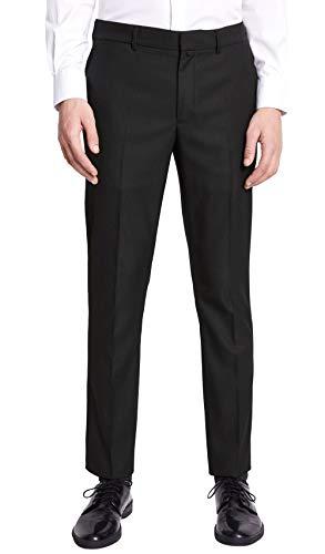Celio Noamaury - Pantalon de costume - Homme-Noir (Noir Noir)-W42 (Taille fabricant:52)