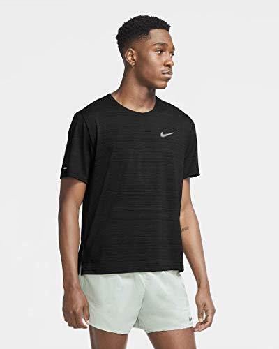 Nike NK DF Miler Top SS Black/Reflective Silv M