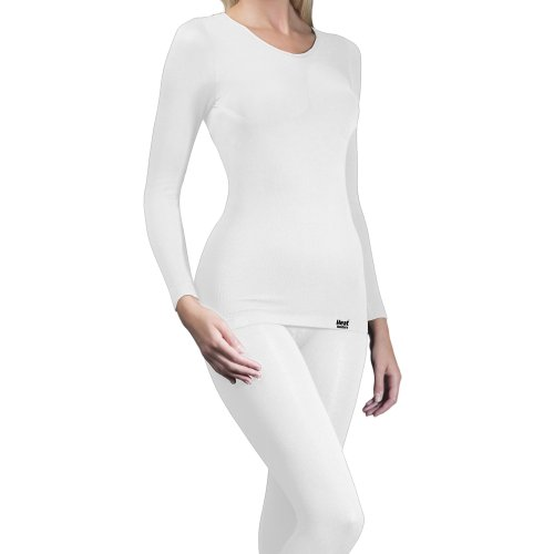 Heat holders - T-shirt thermique (0,39 Tog) à manches longues - Femme - Weiß, Small / Medium