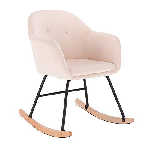 WOLTU SKS16cm Chaise à Bascule en Velours,Fauteuil Relax...