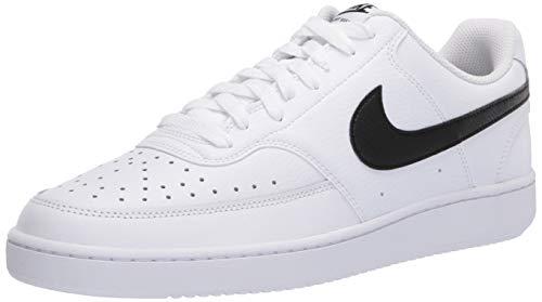 Nike Court Vision Lo, Chaussure de Basket Homme, Blanc Noir Blanc, 43 EU