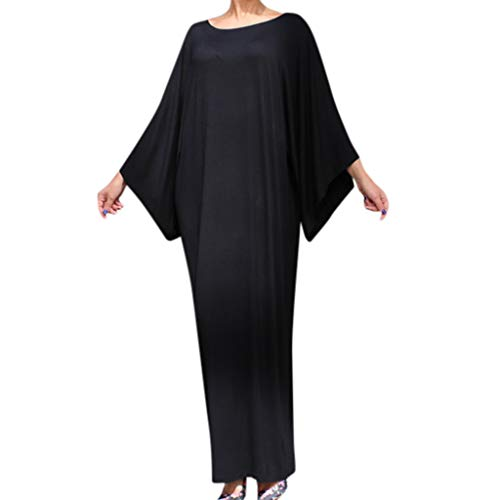 SamMoSonFF_Robe Muslima Abaya Robe/Vetement Femme Musulmane Retro Long Sleeve Elegant Casual...