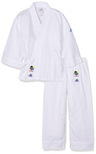 adidas 200E Evolution Kimono Enfant, Blanc, FR : M (Taille Fabricant : 120/130)
